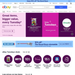 $5 off Eligible Items When Shopping via The App (Minimum Spend $30) @ eBay