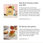 [QLD] $20 off Grocery Orders over $30 @ Uber Eats (Greater Brisbane)