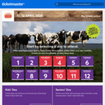 [Hack] Sydney Easter Show 4 x Adult General Admission $118 (Normally $160) + $4 Handling Fee @ Ticketmaster