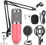 AUSELECT USB Streaming Podcast PC Microphone Pink/Gold $30.59 (Was $69.99) + Delivery ($0 with Prime) @ AUSELECT Amazon AU