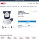 Mug with Cappuccino Flavour Coffee Mix Gift Set $1 (Was $5.50) in-Store /+ $3 C&C ($0 with $20 Spend) /+ Delivery @ Kmart