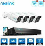 Reolink 8CH 4K Security System NVR Kit Person/Vehicle Detection w/ 2TB HDD $606.89 ($592.61 eBay Plus) Delivered @ Reolink eBay