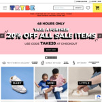 Further 20% off Sale Items + $10 Delivery ($0 with $89 Order) @ The Trybe