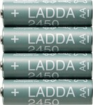 LADDA Rechargeable Battery 2450mAh AA 4pcs $2 + Delivery ($5 C&C) @ IKEA (Family Membership Required)