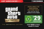 [Pre Order] GTA: The Trilogy - Definitive Edition (PS4, XB1, XSX, Switch) $29 When Trade in 2 Selected Games @ EB Games