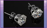 $6.00 Birthstone Sterling Silver Earrings Includes Postage