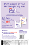 Coles Baby & Toddler Club FREE Sample Bag