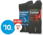 Holeproof Explorer 2x Pack Socks $10 at Big W from Thu 14