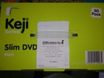 Keji Slim DVD Case Black 50pk $3 Officeworks