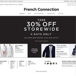 30% Storewide at French Connection + Free Shipping