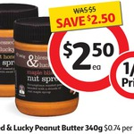 50% off Blessed & Lucky Gourmet Peanut Butter Nut Spreads 340g $2.50 @ Coles - Starts Tomorrow