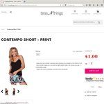 BrasnThings Sale. Contempo Shorts $1. Delivery Is $9.50 Flatrate