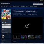 PS4 Lego Marvel Super Heroes US $8.09 with US PS Plus Membership, US $13.49 without