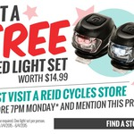Free LED Bike Light Set at Reid Cycles (in-Store)