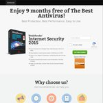 Bitdefender Internet Security 2015 - Free for 9 Months (OzBargain Exclusive)