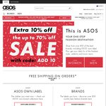 ASOS Extra 10% off Sale Items