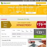 EV SSL Certificate at USD $79 (~AUD $111) Per Year at CheapSSLShop.com