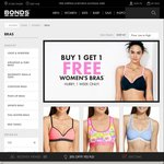 Bonds - Buy 1 Get 1 Free Bras for 1 Week 2 Crop Tops from $17.95 2 Bras from $29.95 Free Delivery