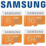 Samsung EVO MicroSD Sale: 32GB $14.00, 64GB $22.00, 128GB $64.00 Delivered @ Futu Online eBay