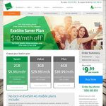 Exetel Saver Mobile Plan $9.99 Per Month for First 6 Months 2GB + $600 Included Value (Save $60)
