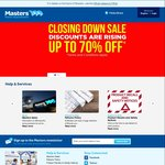 Masters 40% off