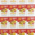 Chkn Roll & Chips $5 | 2 Qtr Chkn & Chips $10 |2 Ryl Burger, ChBurgers, 10 Twists, 2 Lrg Chips @Chicken Treat (Excluding Pinjar)