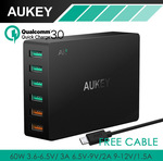 Aukey 6 Port USB Wall Charger $29.32USD ($39.02AUD) + Discounts & Free Shipping in the description @ AliExpress