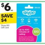 40% off All Skype Gift Cards @ Woolworths (22/3)