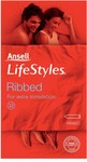 Ansell Ribbed Condom 12 Per Pack $3 (Was $6.99) @ Priceline