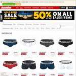 50% off Selected Items at Aussiebum