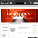 15% Sony Cameras, Lenses and Accessories (Excludes G Master and A9) @ CameraPro