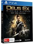 Deus Ex: Mankind Divided Day 1 Edition PS4 $10. Homefront Revolution: PS4 $12 @ Mighty Ape