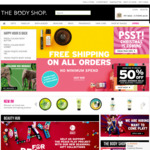 Free Shipping No Minimum Order Sale Items from $9 Delivered @ The Body Shop