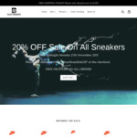 20% OFF All Sneakers at Blaze Sneakers with FREE Shipping on All Orders