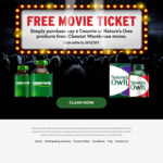 Bonus Movie Ticket When You Purchase 2 Cenovis Products from Chemist Warehouse