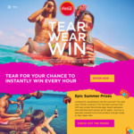 Win 1 of 8 Major Prizes and/or 1,344 Instant Minor Prizes from Coca-Cola