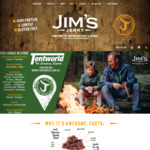3x 50g Jim's Jerky Winning Flavours FREE with Purchase of $50 or More Valued @ $22.50 @ Jim's Jerky