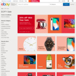 20% off 128 Stores @ eBay