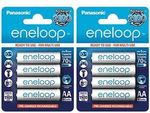 [eBay Plus] 8 Pack Eneloop Rechargeable AA or AAA $19.50 Delivered - Made in Japan @ BatteryMates eBay