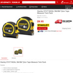 Stanley 5M/8M Tylon Tape Twin Pack - $9.95 NSW, ACT, VIC Pickup Only @ Sydney Tools