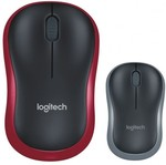 Logitech M185 Wireless Mouse (Black/Red) $10 Click & Collect @ Harvey Norman