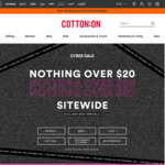 Cotton on Everything under $20 Sitewide (Excludes New Arrivals)