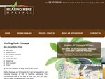 Healing Herb Massage Grand Opening Special 50% Off