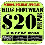 Russell Athletics - All Kids footwear $20 per pair - 2 Week special from 6/4 to 24/4