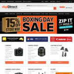 Boxing Day Sale: 15% off Storewide (Exclusions Apply) @ digiDIRECT