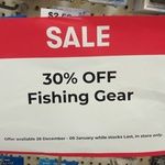 30% off All Fishing Gear @ Big W In-Store Only
