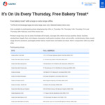 Free Bakery Treat (with Large or Extra Large Coffee Purchase) @ Caltex (Every Thursday)
