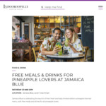 [QLD] Free Meal or Drink on Saturday 23/3 @ Jamaica Blue Indooroopilly for People Wearing Pineapple Clothing or Accessories