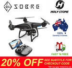 20% off Storewide - Holy Stone HS100 GPS FPV RC 1080P HD Camera Drone $263.96 Delivered @ SOBRE eBay Store