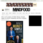 Win 1 of 8 Copies of 'Make Money Simple Again' by Bryce Holdaway and Ben Kingsley Worth $29.95 from MiNDFOOD